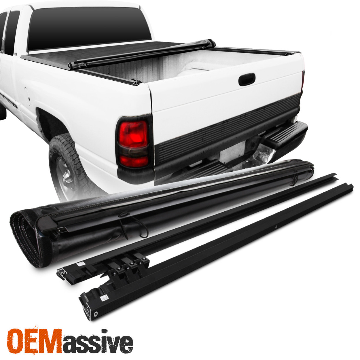 Soft Roll Up Tonneau Cover For 1994 2001 2002 Dodge Ram 1500 2500 3500 78 Bed Oemassive