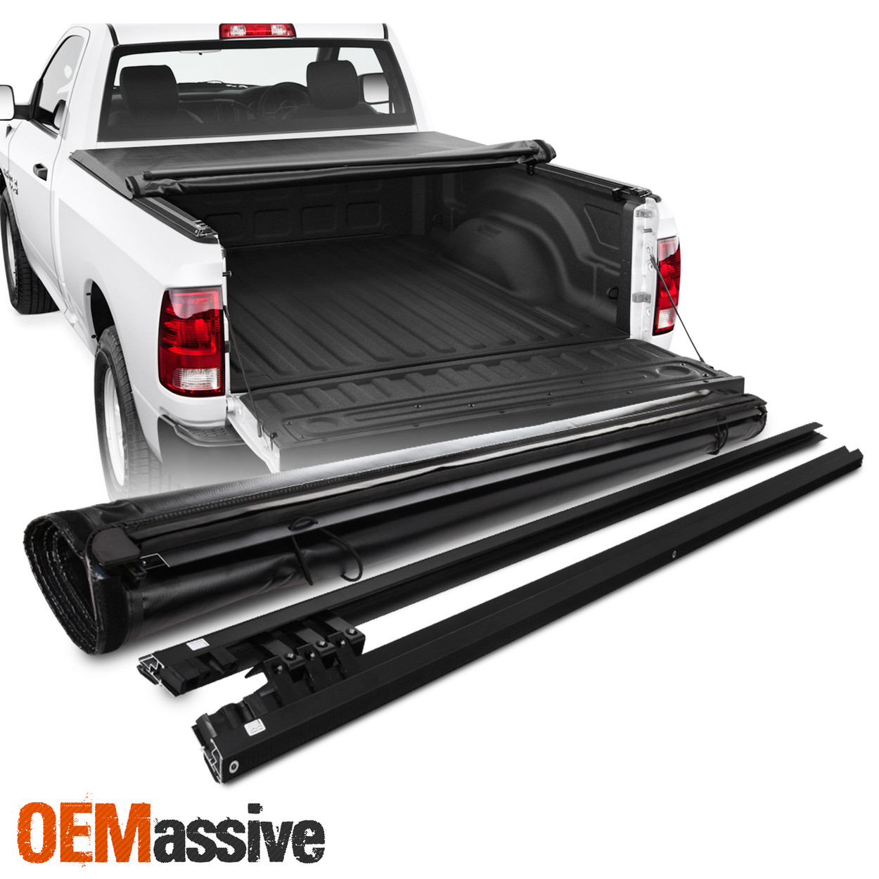 Tonneau Cover For 2009 18 Dodge Ram 1500 2010 18 2500 3500 78 Bed Soft Roll Up Oemassive