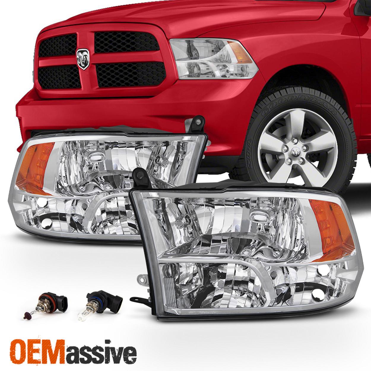 Fits 2009 2018 Dodge Ram 1500 2010 2018 2500 3500 Quad Style Headlights Lamps Oemassive