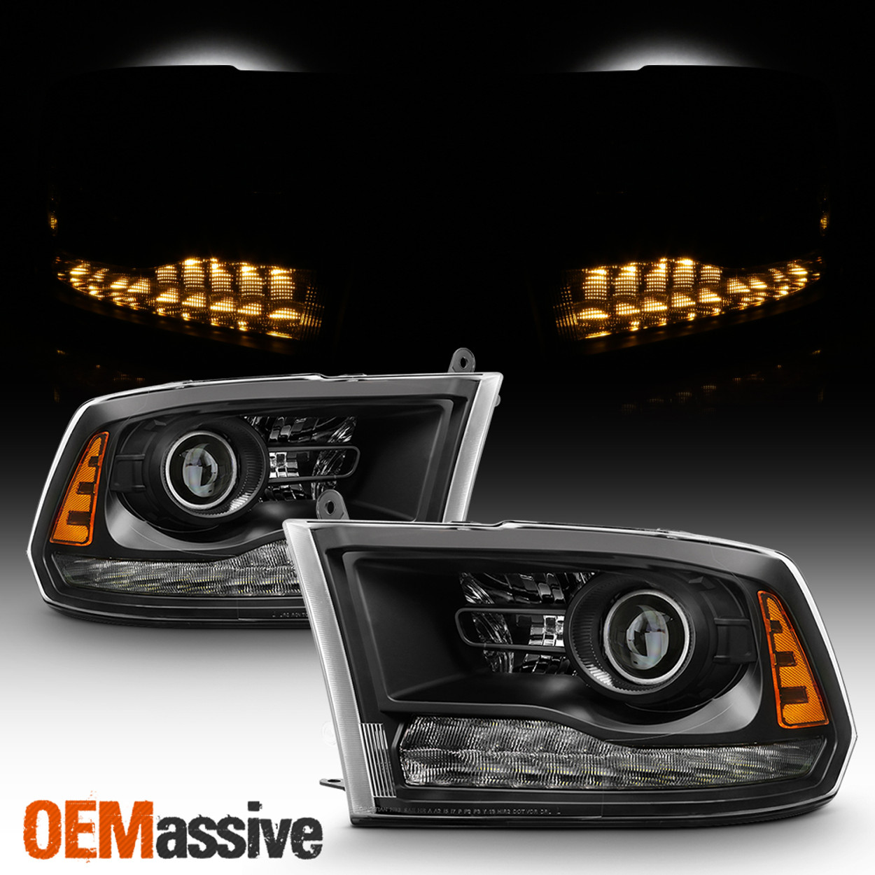 2013 2018 Dodge Ram 1500 2500 3500 Headlights Factory Projector Style Only Oemassive