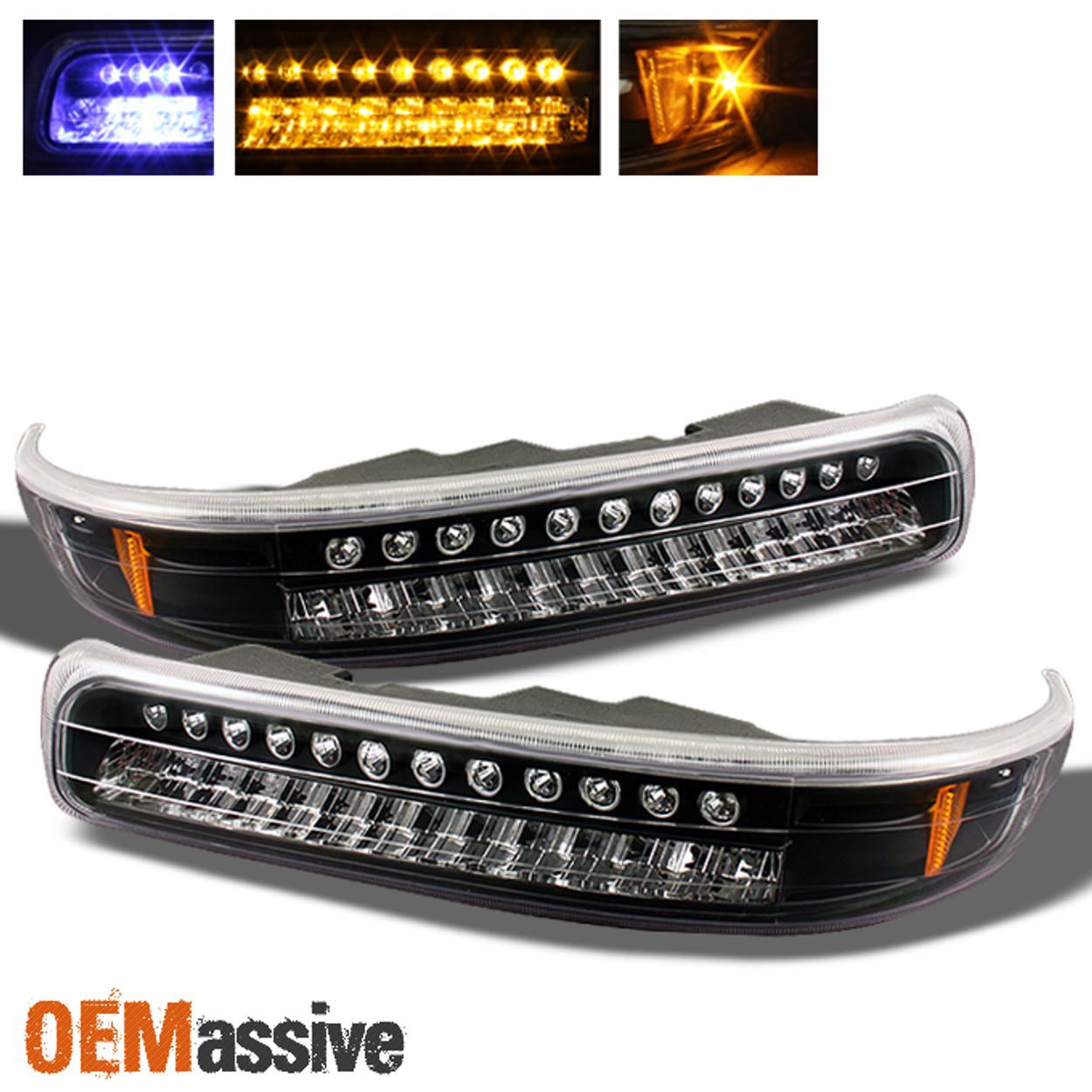 LED Bumper Signal Lights Fits 99-02 Silverado 00-06 Tahoe Suburban Headlights