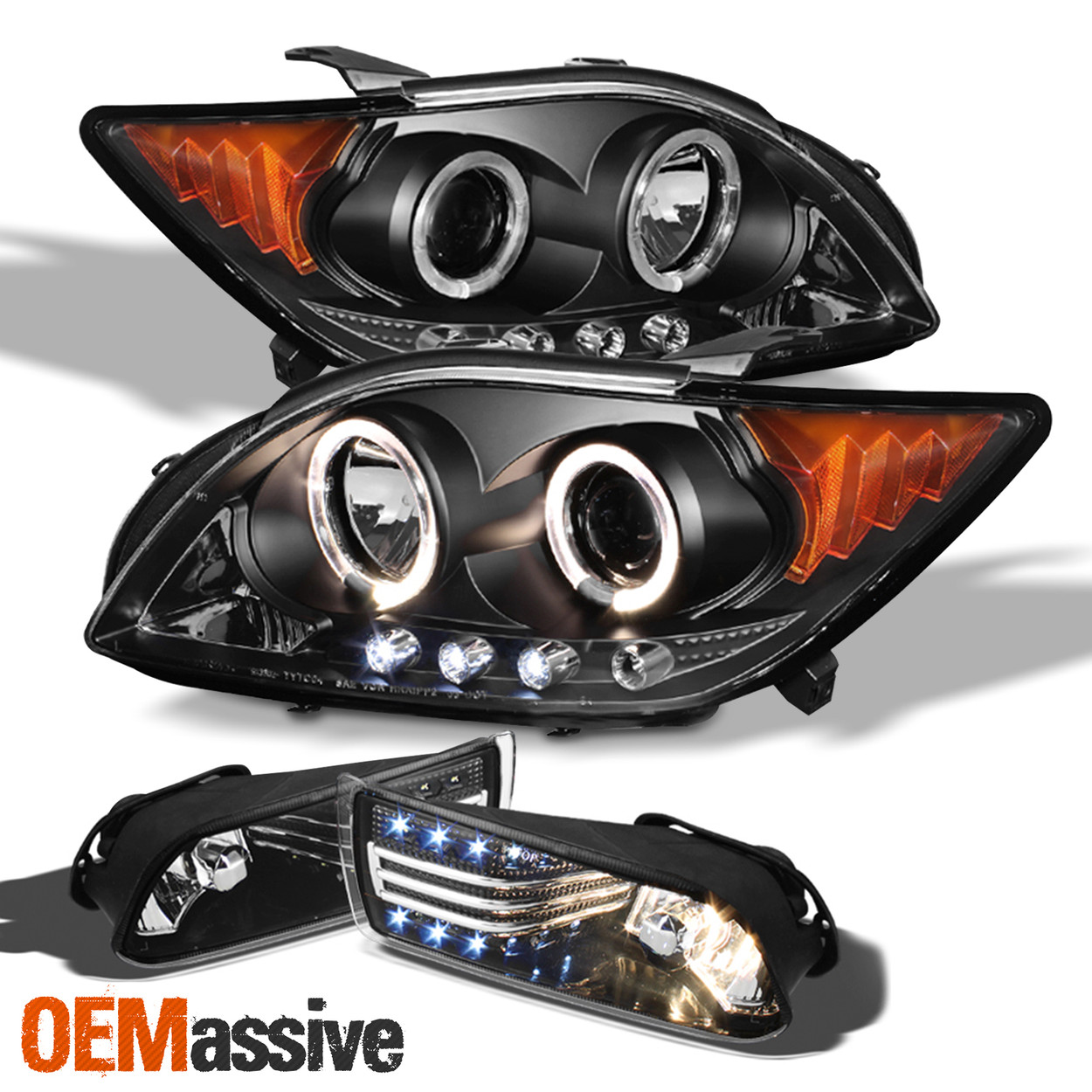 For 2005-2010 Scion Tc JDM Style Fog Lights Lamps w//Wiring Switch+Toggle Switch