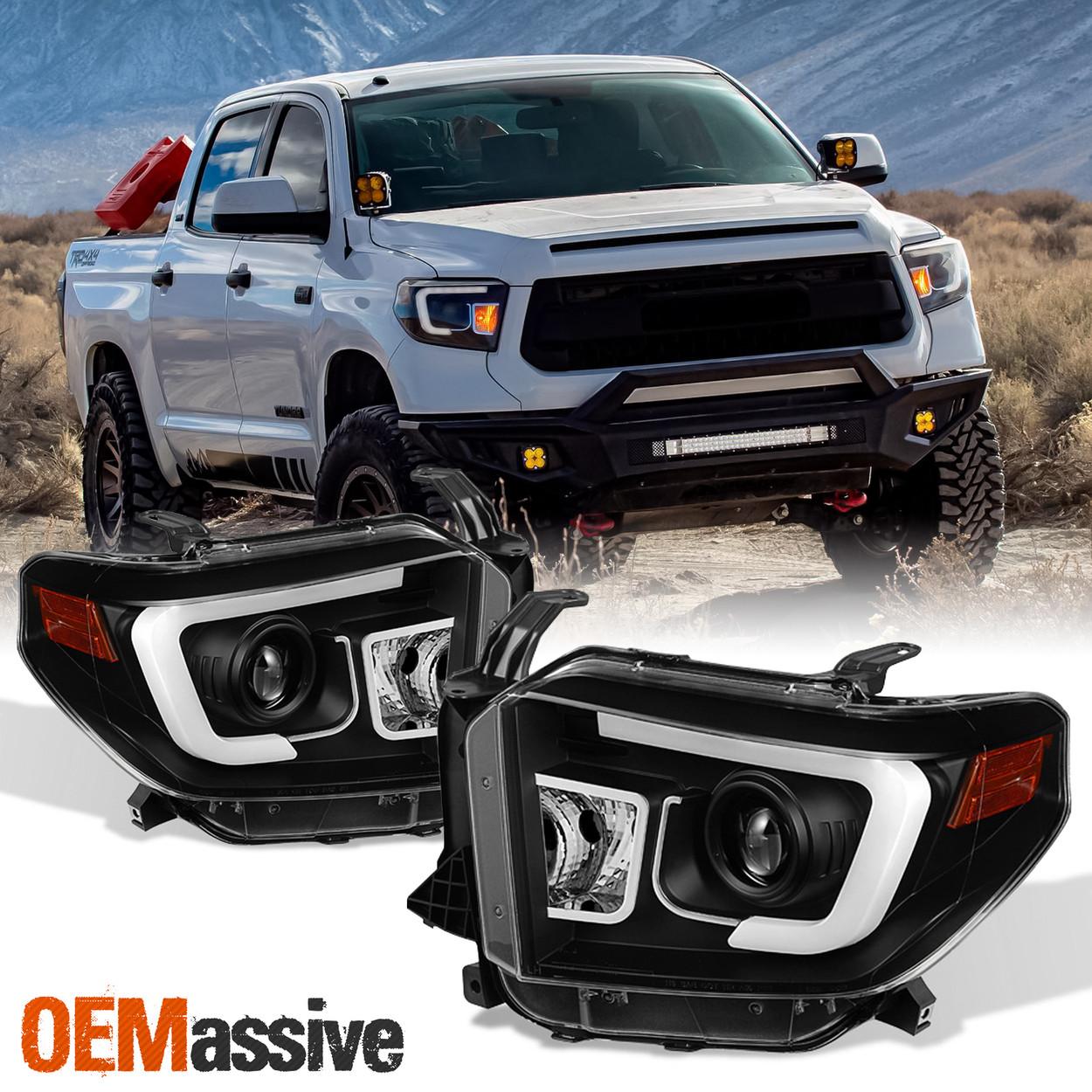 Fits 2014 2020 Tundra Sr Sr5 Limited Trd Pro Black Drl Led Projector Headlights Oemassive