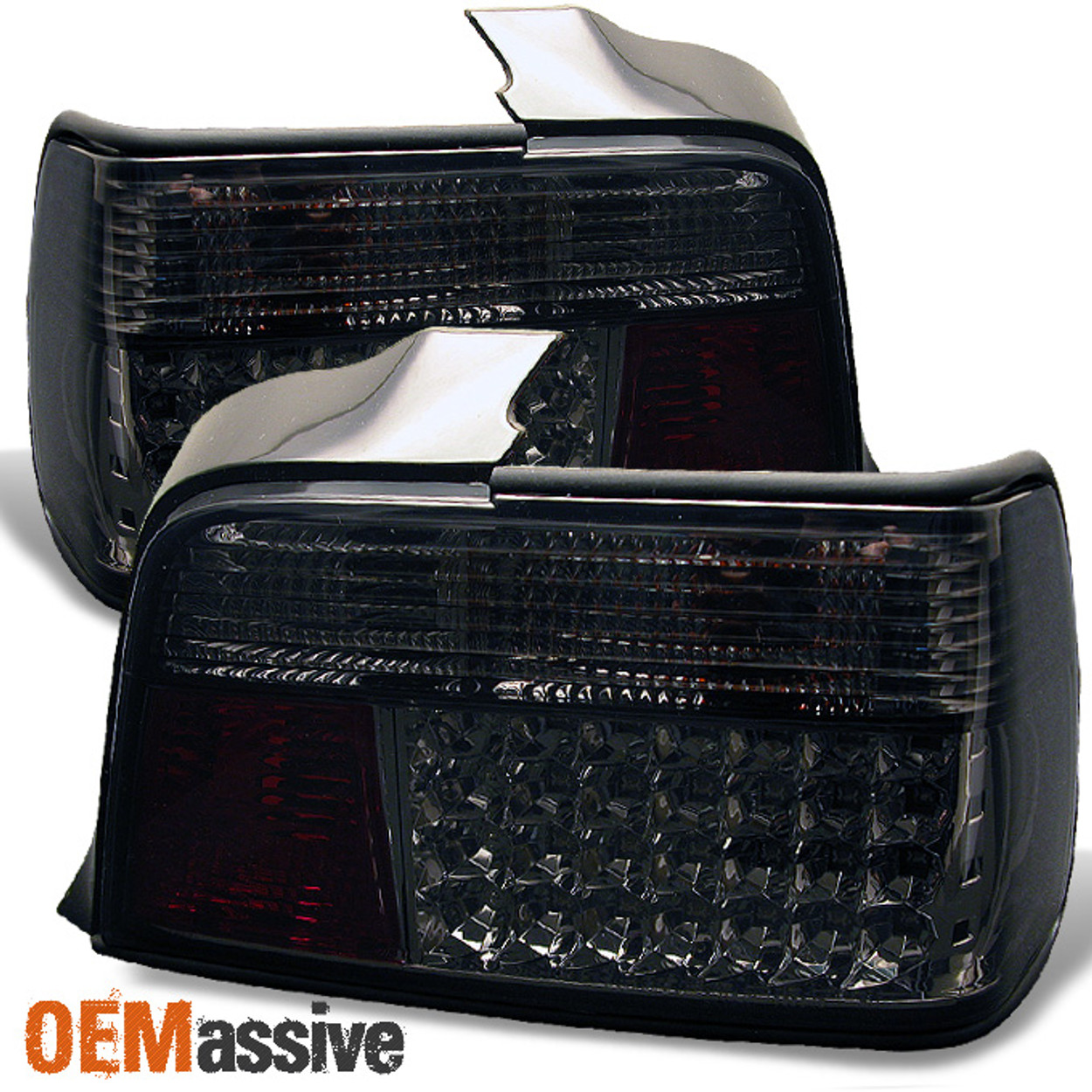 Fits Smoked 92 98 Bmw E36 3 Series 4dr Sedan Jdm Led Tail Lights Lamp Left Right Oemassive