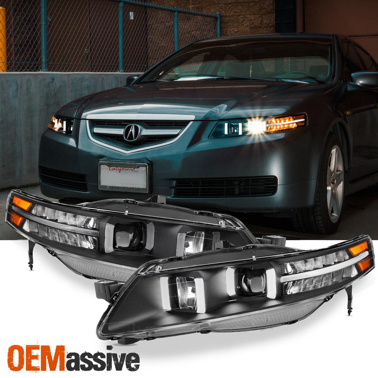 Black Fits 2004 2008 Ua7 Acura Tl Led Projector Headlights Headlamps Oemassive
