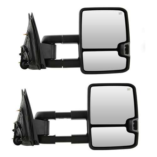 AERDM New Pair Towing Mirrors Replacement fit for 2014-2018 Chevy GMC Silverado Sierra 1500 2015-16 2500 HD 3500 HD Power Heated Mirrors