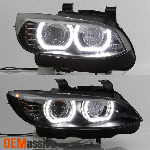 Hid Xenon For 07 10 Bmw 328i 335i 3 Series Coupe Led Projector Black Headlights Oemassive