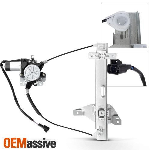741-622 10338857 Rear Left Driver Side Power Window Regulator with Motor Compatible for 2000-2005 Chevrolet Impala