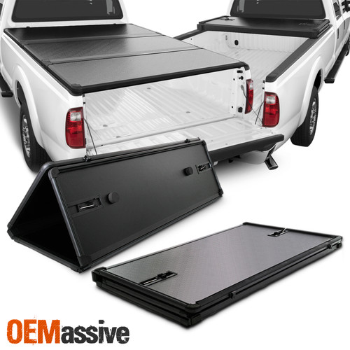 For 1999 2016 F250 F350 F450 F550 Superduty 8 Ft 96 Hard Tri Fold Tonneau Cover Oemassive