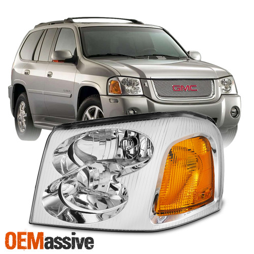 Oe Style For 2002 09 Gmc Envoy Suv Chrome Bezel Headlight Lamp