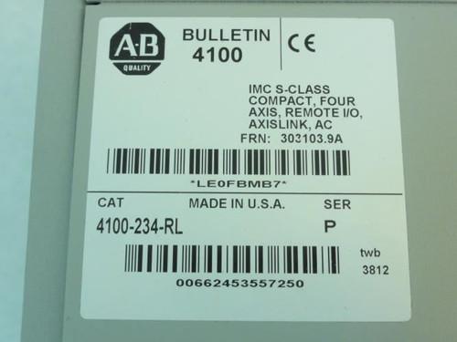 Allen-Bradley 4100-234-RL, Servo Motion Controller, Ser. P