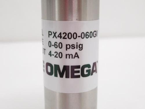 Omega PX4200-060GI, Pressure Transmitter 0-60Psig, 4-20mA