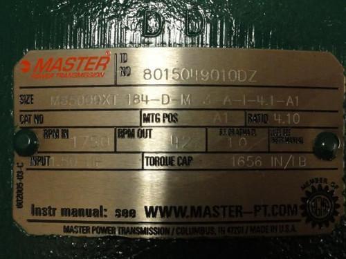 Master M85009XT-184-D-M 3-A-I-4.1-A1, Gearbox, 4.10:1,1656in/lb