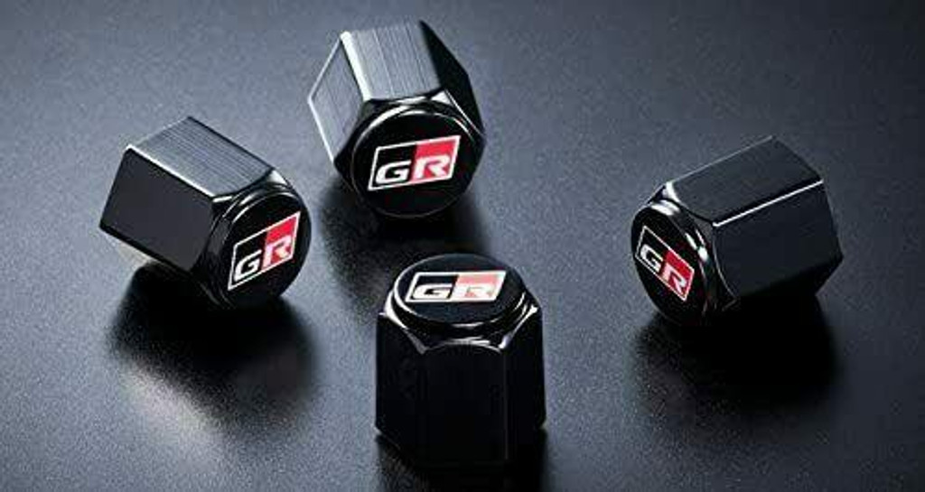 GR Valve Cap Set of 4 - Black