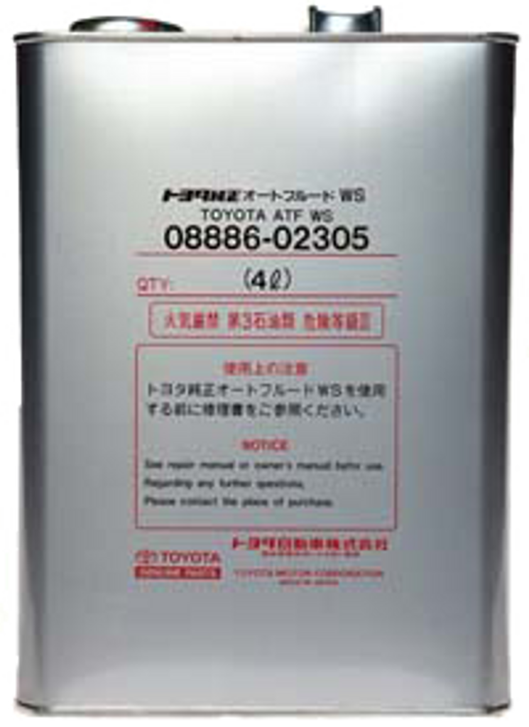 Automatic Transmission Fluid Type WS - Part no  TO0888602305