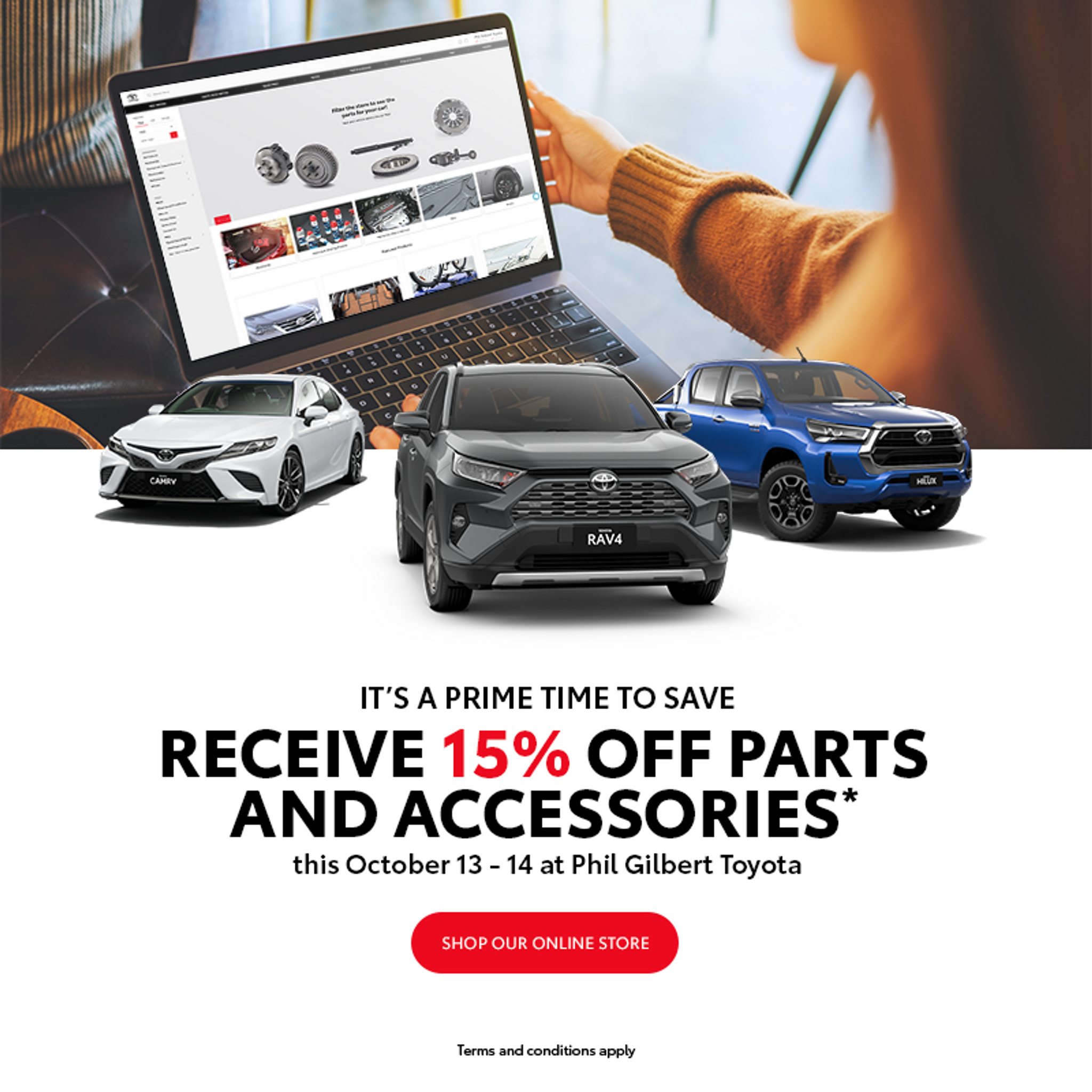 IT'S A PRIME TIME TO SAVE | Phil Gilbert Toyota Parts