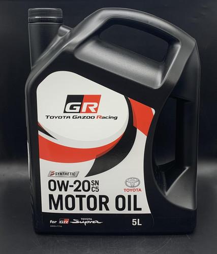 Genuine TOYOTA SUPRA 3.0 GR (DB41, DB42, DB43) 2019 on GR Engine Oil SN 0W20 C5 5 Litre - Part no. TO08880WA010_135932