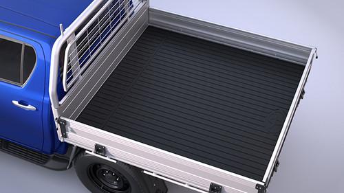 Genuine TOYOTA HILUX 2.4 D (GUN112, GUN122) 2015 on Rubber Tray Mat - Type B - Single Cab - 2550mm tray only - Part no. TOPZQ2089070_117640