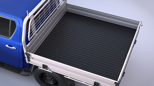 Genuine TOYOTA HILUX 2.4 D (GUN112, GUN122) 2015 on Rubber Tray Mat -Type A - Single Cab - 2400mm tray only - Part no. TOPZQ2089060_117640