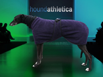 greyhound fleece coat