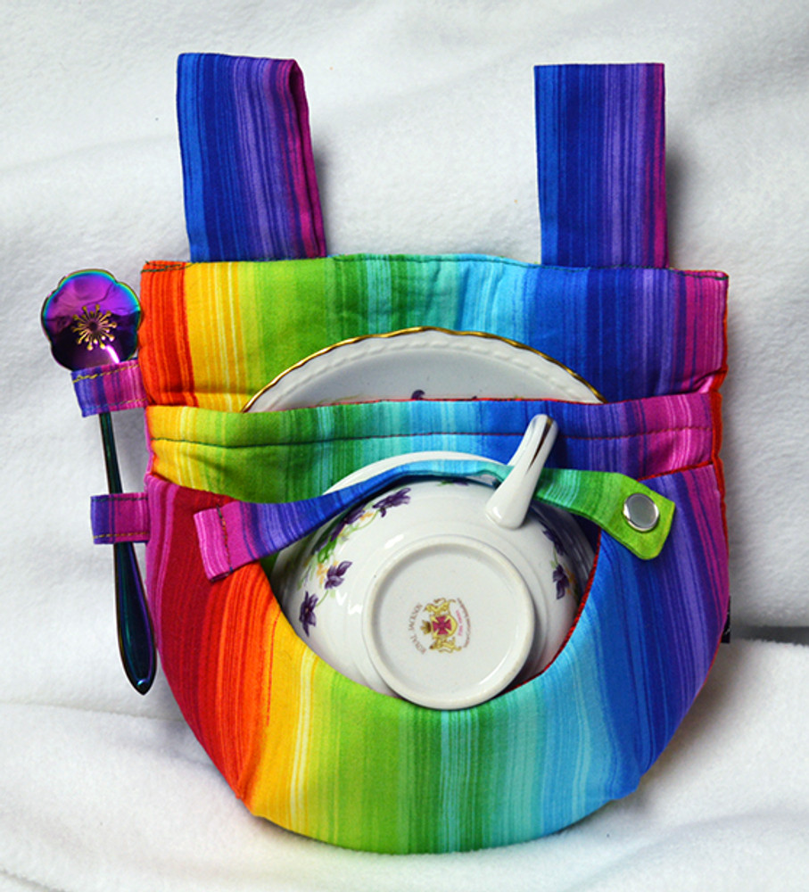 Rainbow Stripe Teacup Holster