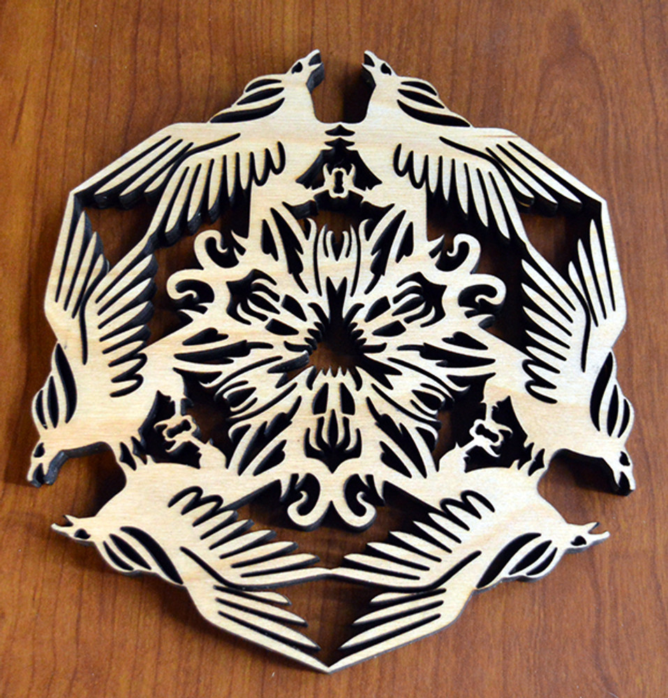 Phoenix Trivet with optional set of four matching coasters