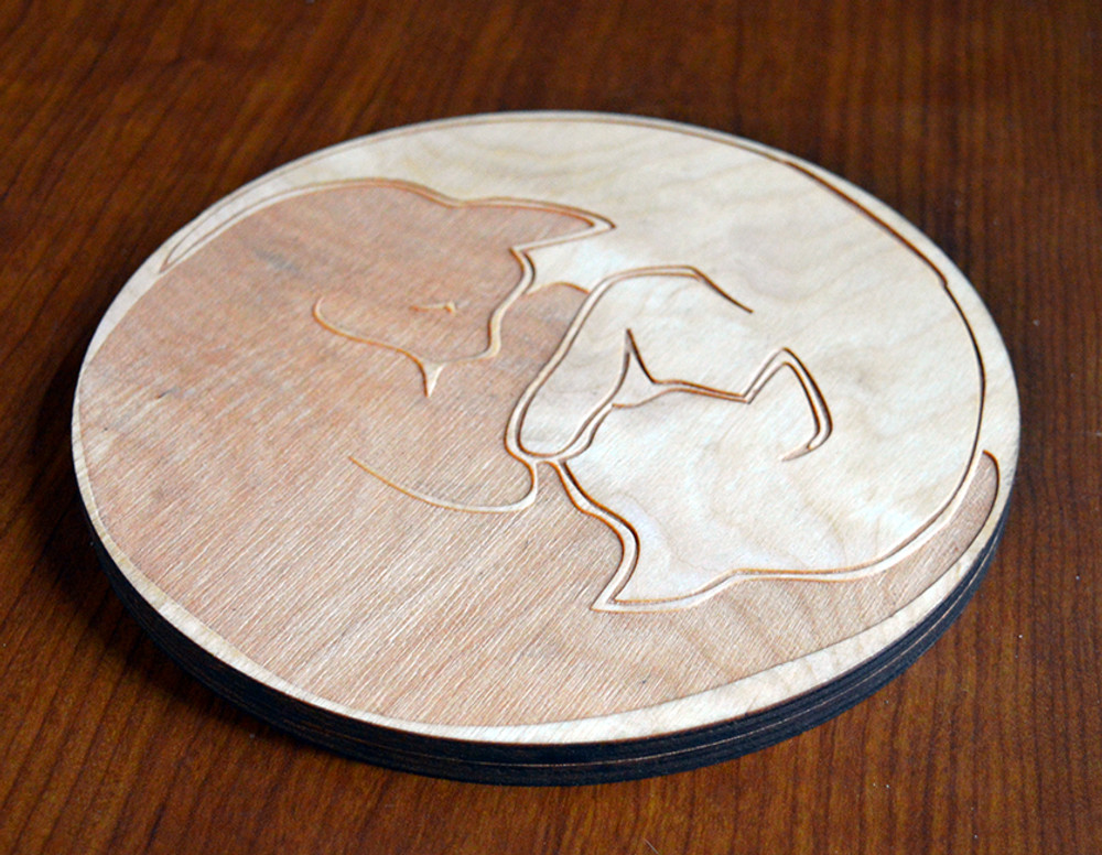 Zen Kitties Trivet with optional set of four matching coasters