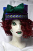 Art Decco Cotton Velveteen Castle Hat with Detachable Tassel