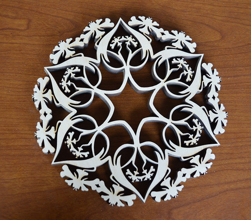 Art Nouveau Lily Trivet with optional set of four matching coasters
