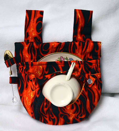 Flames Teacup Holster