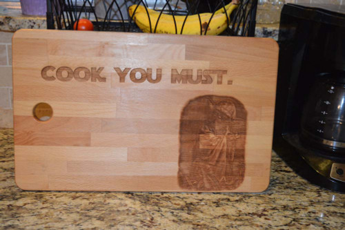 Cook You Must Yoda Cutting Board