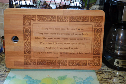 Irish Blessing Cutting Board