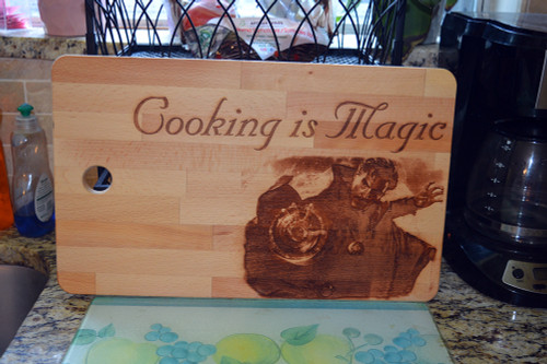 Cooking is Magic Cutting Board