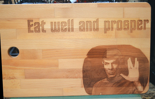 Eat Well and Prosper Star Trek  Cutting Board