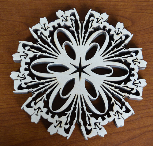 Day Lily Trivet with optional set of four matching coasters