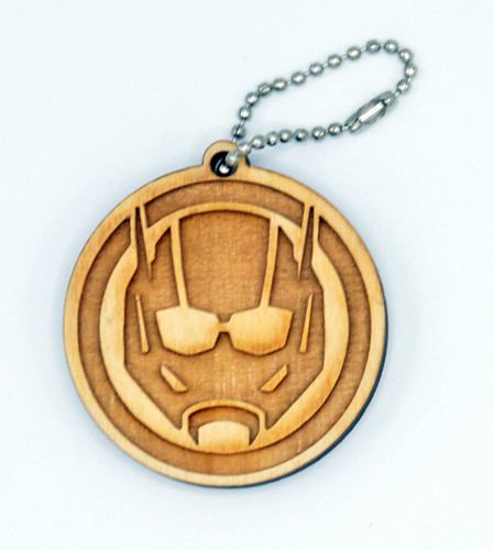 Antman birch laser cut keychain