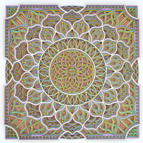 Small square water mandala #8