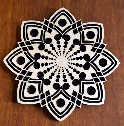 Mandala Trivet with optional set of four matching coasters
