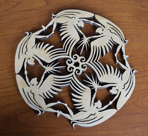 Angel Trivet with optional set of four matching coasters