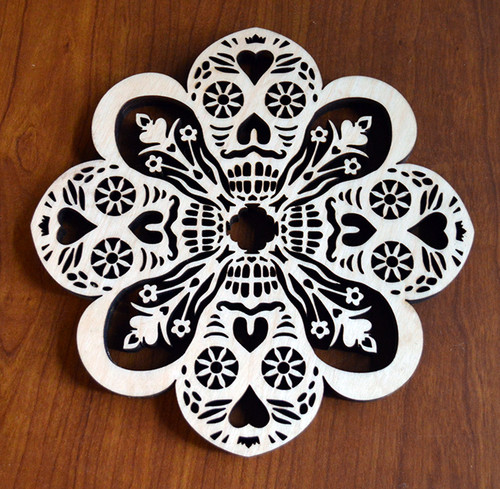 Calaveras Trivet with optional set of four matching coasters