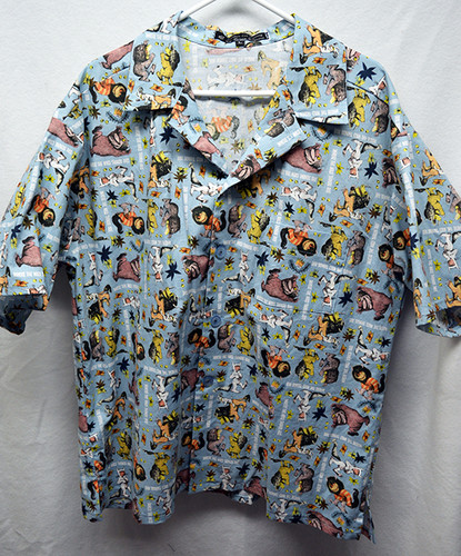 "Where the Wild Things Are 100% Cotton Hawaiian Shirt Large (42""-44"")"