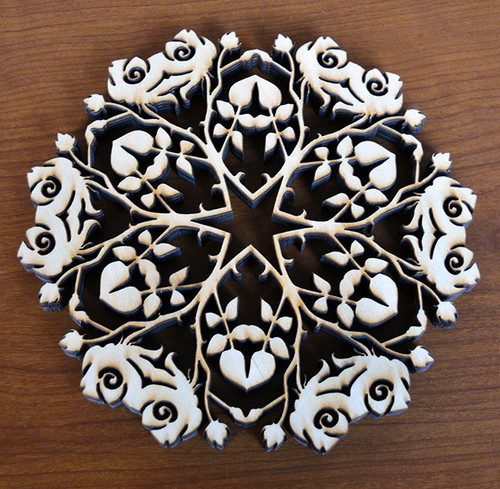 Rose Trivet with optional set of four matching coasters