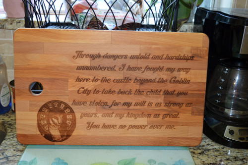 You have no Power over me Labyrinth Cutting Board