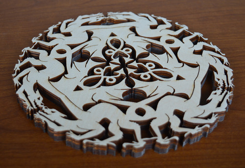 Celtic Dragon Trivet with optional set of four matching coasters
