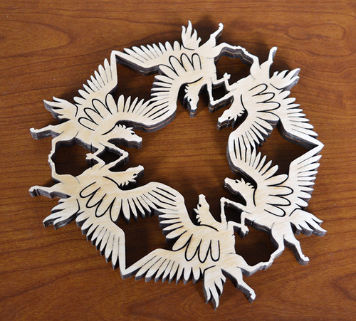 Pegasus Trivet with optional set of four matching coasters