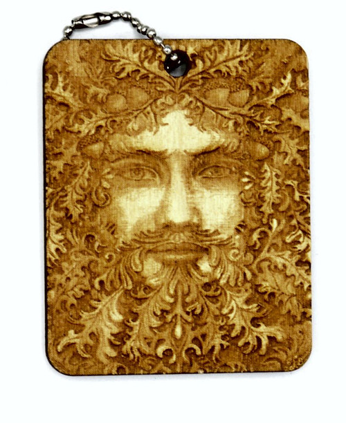 Greenman birch laser cut keychain