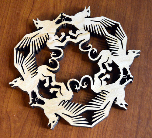 Gryphon Trivet with optional set of four matching coasters