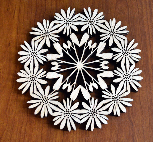 Daisy Trivet with optional set of four matching coasters