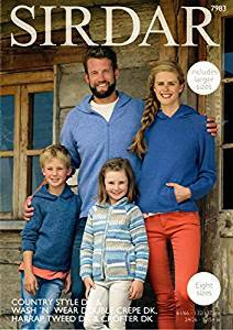 Sirdar Pattern 7983 - Sweaters and Jackets