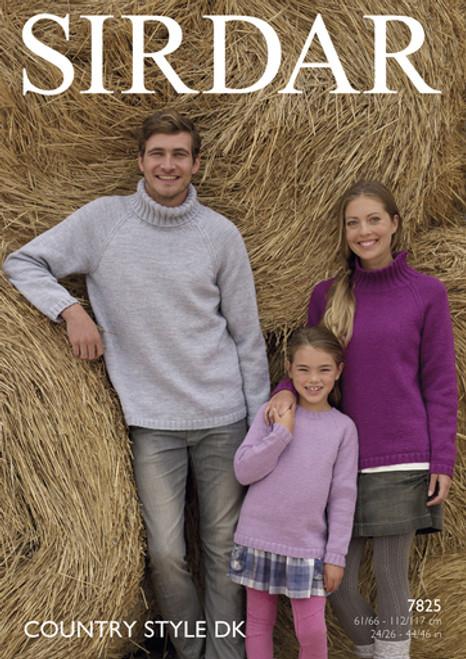 Sirdar Pattern 7825 - Sweaters